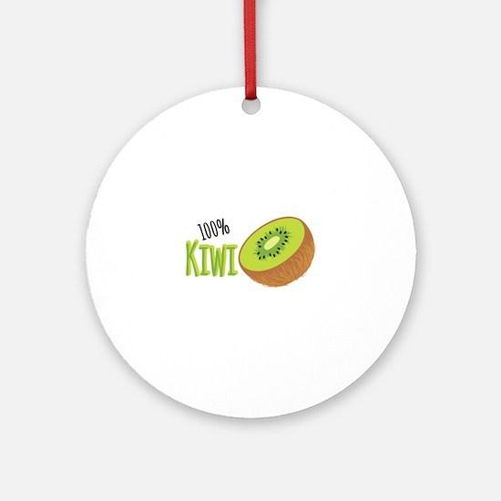 100 % Kiwi Ornament (Round)