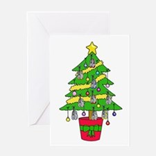 Happy Christmas runners and athlet Greeting Cards