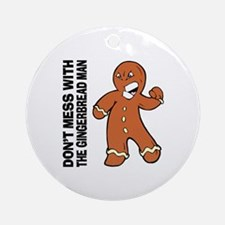 The Gingerbread Man Ornament (Round)