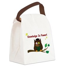 Wise Owl Canvas Lunch Bag