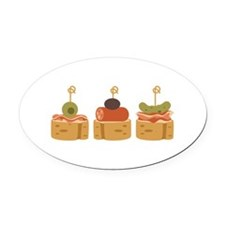 Spanish Tapas Appetizers Food Oval Car Magnet