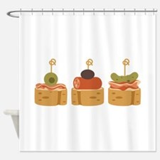 Spanish Tapas Appetizers Food Shower Curtain