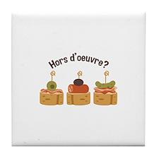 Hors doeuvre? Tile Coaster