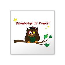 "Wise Owl Square Sticker 3"" x 3"""