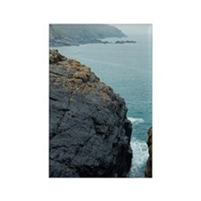 The mining coastline of Cornwall Rectangle Magnet