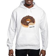 bite me donut. chocolate donuts Hoodie