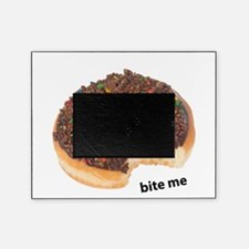 bite me donut. chocolate donuts Picture Frame
