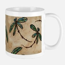 Dragonfly Flit Rustic Cream Mug