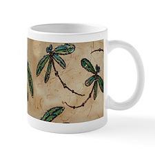 Dragonfly Flit Rustic Cream Small Mug