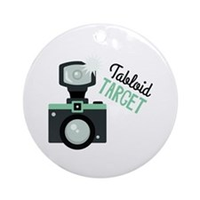 Tabloid TARGET Ornament (Round)
