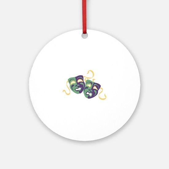 Happy Sad Drama Acting Theatre Masks Ornament (Rou