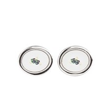 Happy Sad Drama Acting Theatre Masks Oval Cufflink