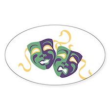 Happy Sad Drama Acting Theatre Masks Decal
