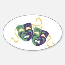 Happy Sad Drama Acting Theatre Masks Decal