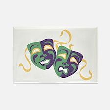 Happy Sad Drama Acting Theatre Masks Magnets