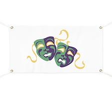 Happy Sad Drama Acting Theatre Masks Banner