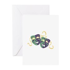 Happy Sad Drama Acting Theatre Masks Greeting Card