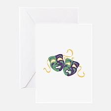 Happy Sad Drama Acting Theatre Masks Greeting Card