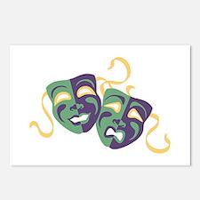 Happy Sad Drama Acting Theatre Masks Postcards (Pa