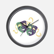 Happy Sad Drama Acting Theatre Masks Wall Clock