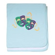 Happy Sad Drama Acting Theatre Masks baby blanket