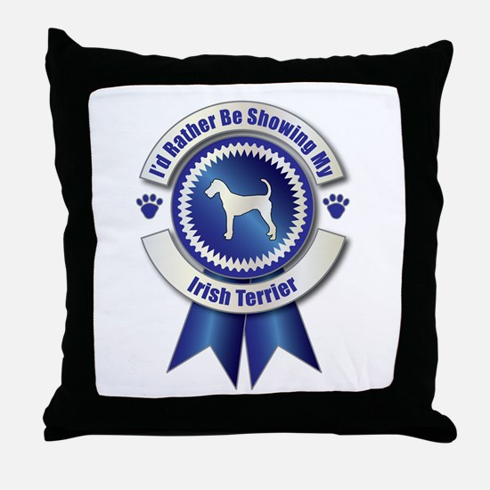 Showing Terrier Throw Pillow