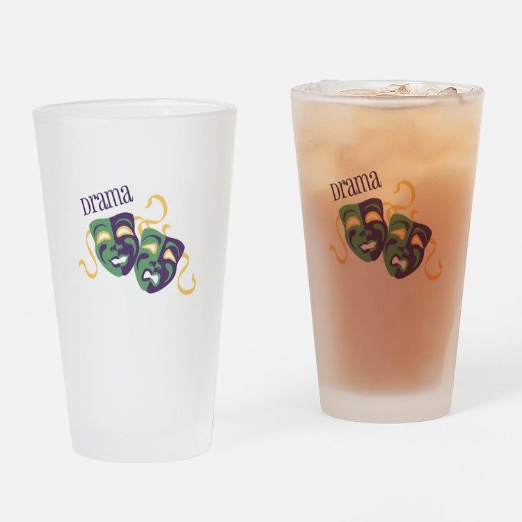 Drama Drinking Glass
