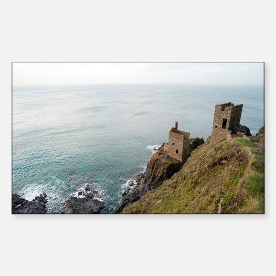 Crown Mines ruins, Botallack,  Sticker (Rectangle)
