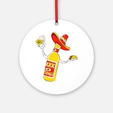 Cerveza Ornament (Round)