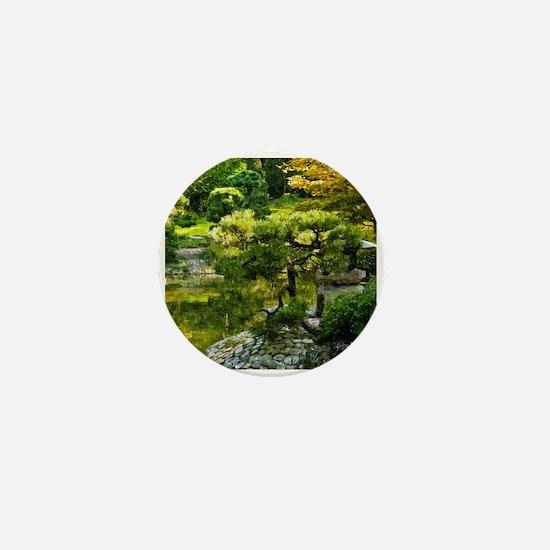 Japanese garden, early autumn Mini Button