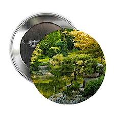 """Japanese garden, early autumn 2.25"""" Button"""