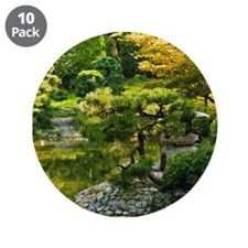 "Japanese garden, early autumn 3.5"" Button (10 pack"