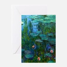 monet nymphea lily pond giverny Greeting Cards