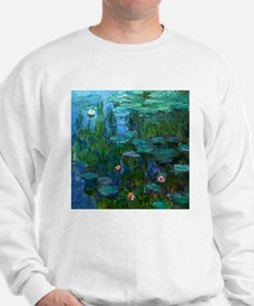 monet nymphea lily pond giverny Sweatshirt