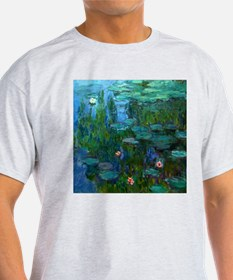 monet nymphea lily pond giverny T-Shirt
