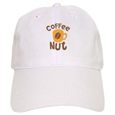 Coffee NUT with cute orange mug Baseball Cap