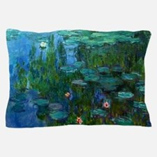 monet nymphea lily pond giverny Pillow Case