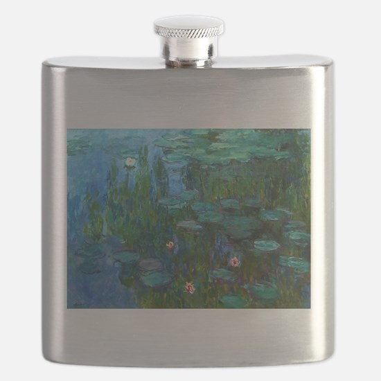 monet nymphea lily pond giverny Flask