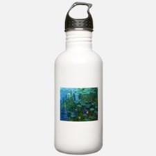 monet nymphea lily pond giverny Water Bottle