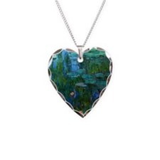 monet nymphea lily pond giverny Necklace