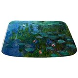 Monet water lillies Memory Foam Bathmats