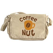 Coffee NUT with cute orange mug Messenger Bag