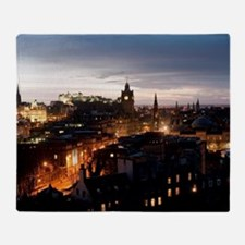 Edinburgh illuminated at night Throw Blanket