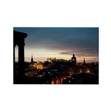 View of Edinburgh at night Rectangle Magnet