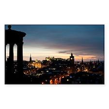 View of Edinburgh at night Decal