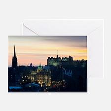 View of Edinburgh Castle at night Greeting Card