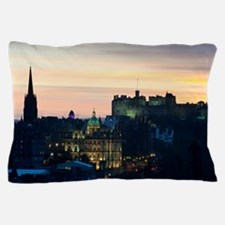 View of Edinburgh Castle at night Pillow Case