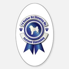 Showing Sheepdog Oval Decal