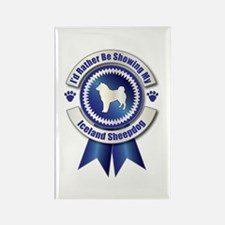 Showing Sheepdog Rectangle Magnet (100 pack)