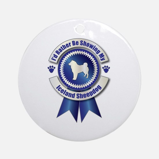 Showing Sheepdog Ornament (Round)